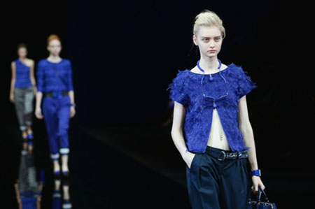 Bluette Armani: primavera - estate 2015